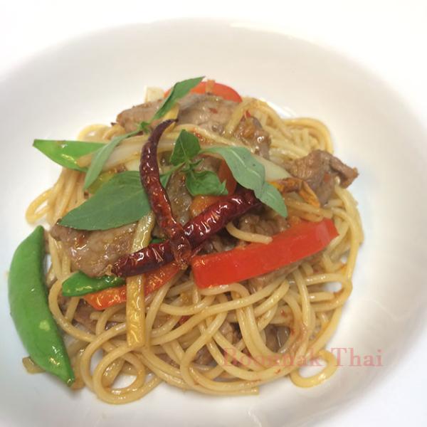 spaghetti pad khee mao